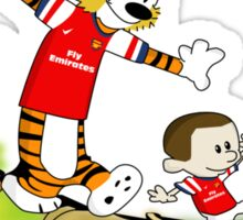 Podolski and Mertesacker as Calvin and Hobbes. Sticker