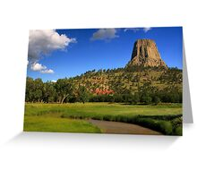 Devils Tower over the Belle Fourche River Greeting Card