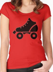 roller-skate Women's Fitted Scoop T-Shirt