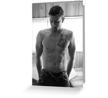 Jacob-The Pose Greeting Card