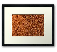 Texture of Mammoth Hot Springs Framed Print