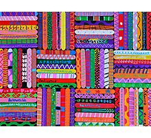 Pattern Sticks Photographic Print
