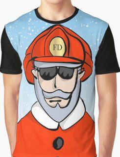 Fireman Santa Graphic T-Shirt