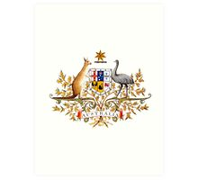 australian coat of arms Art Print