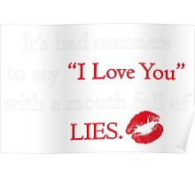 I LOVE YOU Qoute Poster