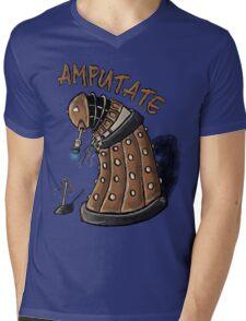 Hurt Dalek Mens V-Neck T-Shirt