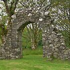 Archway at Carnasserie Castle by lezvee