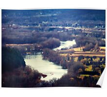River View tilt shift photography miniature looking Poster