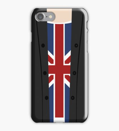 a blonde in a Union Jack iPhone Case/Skin