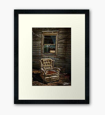 Life From A Single Window Framed Print