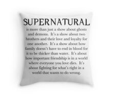 It's a show about love and loyalty. Throw Pillow