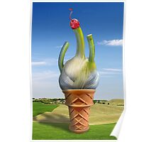 Fennel Ice Cream in the Field with Cherry on Top Poster
