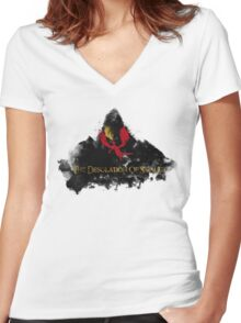 The Desolation Of Smaug Women's Fitted V-Neck T-Shirt