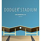 Minimalist Dodger Stadium - Los Angeles by pootpoot