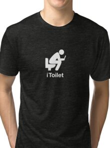 iToilet, icon for people who love reading from iPad in toilet Tri-blend T-Shirt