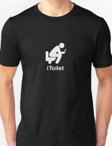 iToilet, icon for people who love reading from iPad in toilet T-Shirt
