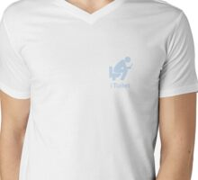 iToilet, again-icon for people who love reading from iPad in toilet Mens V-Neck T-Shirt