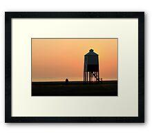 Burnham-on-Sea Sunset Framed Print