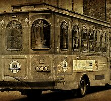 A trolley ride thru the square by Scott Mitchell