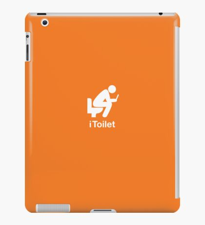 iToilet, orange-icon for people who love reading from iPad iPad Case/Skin