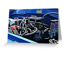 Engine Blue Greeting Card
