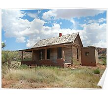 Home on the Range--Abandoned Home in Cuervo, New Mexico Poster