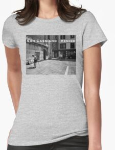 San Cassiano Plaza, Venice Womens Fitted T-Shirt