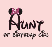 Aunt of the birthday girl with Minnie Mouse ears by sweetsisters