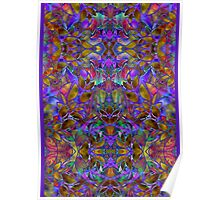 Fractal Floral Abstract Poster