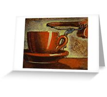 Still life with racing bike Greeting Card