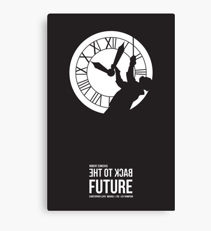 Back to the Future - Doc Brown & the Clock Tower Canvas Print