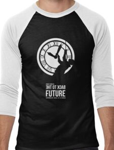 Back to the Future - Doc Brown & the Clock Tower Men's Baseball ¾ T-Shirt