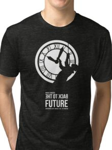 Back to the Future - Doc Brown & the Clock Tower Tri-blend T-Shirt