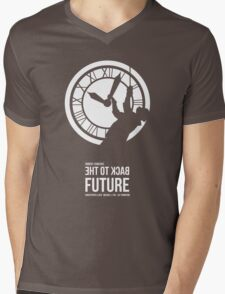 Back to the Future - Doc Brown & the Clock Tower Mens V-Neck T-Shirt