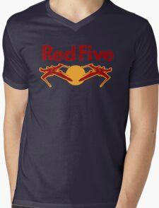 Red Five Mens V-Neck T-Shirt