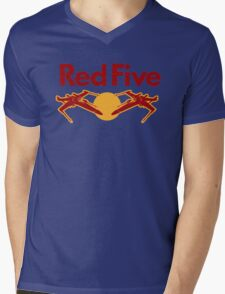 Red Five Mens V-Neck T-Shirt