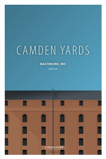 Minimalist Camden Yards - Baltimore by pootpoot