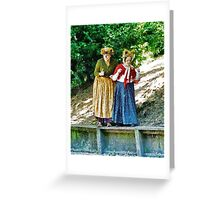 Walking With Squirrels   Greeting Card