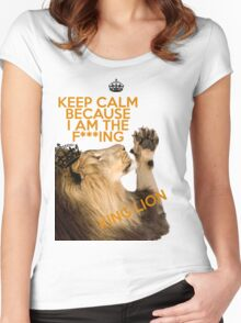 Lion Keep Calm Women's Fitted Scoop T-Shirt
