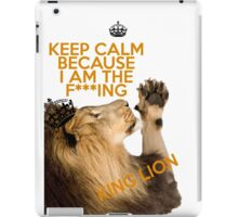 Lion Keep Calm iPad Case/Skin