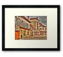 Street in Troyes France Framed Print