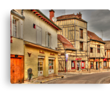 Street in Troyes France Canvas Print