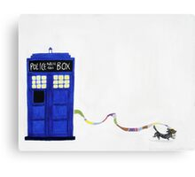 The Dachshunds Have the Phone Box Canvas Print