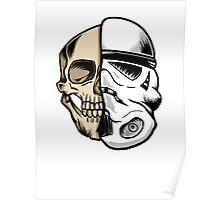 Star Wars Stormtrooper Skull Art Poster