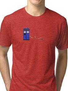 The Dachshunds Have the Phone Box Tri-blend T-Shirt