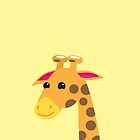 Cute Giraffe with a long neck  by jazzydevil