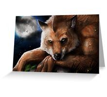 Silence in the moonlight Greeting Card