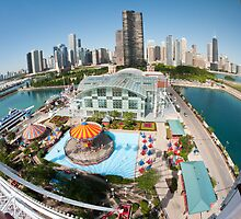 Chicago Skyline from the Navy Pier Ferris Wheel by dingobear