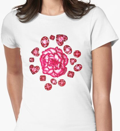 Garnets & Carnations  Womens Fitted T-Shirt