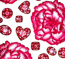 Garnets & Carnations  by Perrin Le Feuvre
